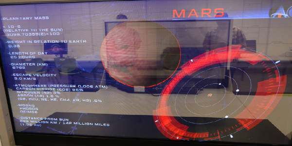 The New Astronaut Training Experience at Kennedy Space Center Visitor Complex -Mars screen
