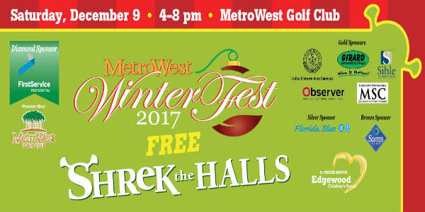 MetroWest Hosts Free WinterFest Dec 9, 2017