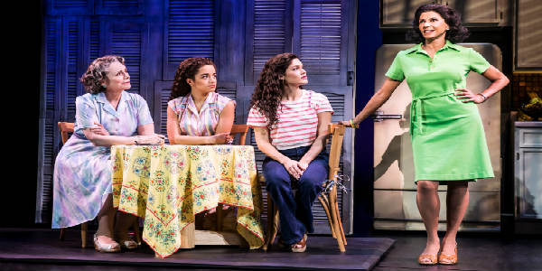 :Alma Cuervoas Consuelo, Claudia Yanezas Rebecca, Christie Pradesas Gloriaand Nancy Ticotinas Gloria Fajardo, ON YOUR FEET! © Matthew Murphy