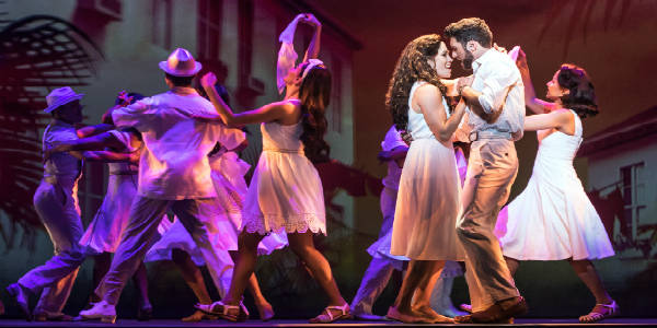 Mauricio Martinez as Emilio Estefan and Christie Prades as Gloria Estefan and Company, ON YOUR FEET! © Matthew Murphy