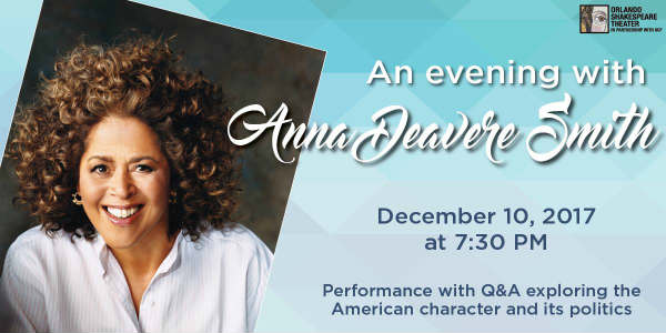 Orlando Shakespeare Theater Hosts An Evening with Anna Deavere Smith