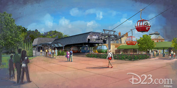 Walt Disney World Releases Details on the Disney Skyliner System Stations - International Gateway at Epcot