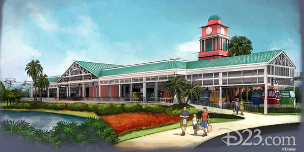 Walt Disney World Releases Details on the Disney Skyliner System Stations - Disney's Caribbean Beach Resorts
