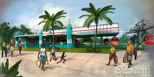 Walt Disney World Releases Details on the Disney Skyliner System Stations -Disney's Hollywood Studios