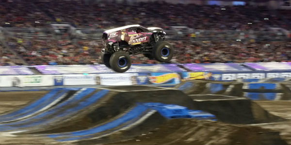Monster Jam at Raymond James Stadium in Tampa on Jan 13, 2018