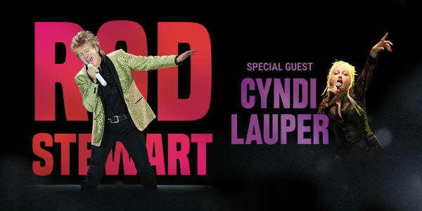 Legendary musician Rod Stewart will bring his summer tour with fellow icon Cyndi Lauper to Amway Center in Orlando on July 26, 2018.