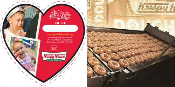 Central Florida's Krispy Kreme locations are helping to make kids' sweet dreams come true in March 2018, in partnership with Give Kids The World Village.