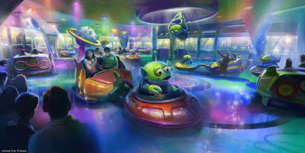 Toy Story Land is set to open at Disney's Hollywood Studios this Summer and Walt Disney World has released a first look at one of it's main attractions: the Alien Swirling Saucers.