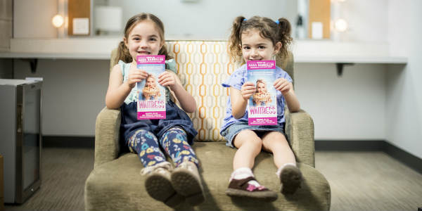 Dr. Phillips Center for the Performing Arts celebrated Pi Day by revealing the two little girls chosen for their big break in the critically acclaimed Broadway musical WAITRESS playing March 20-25.