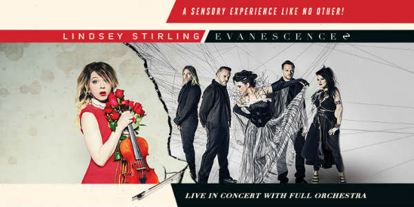two-time GRAMMY® Award-winning rock band Evanescence and acclaimed Billboard Award-winning electronic violinist Lindsey Stirling today announce their co-headlining 2018 summer amphitheater tour across North America.