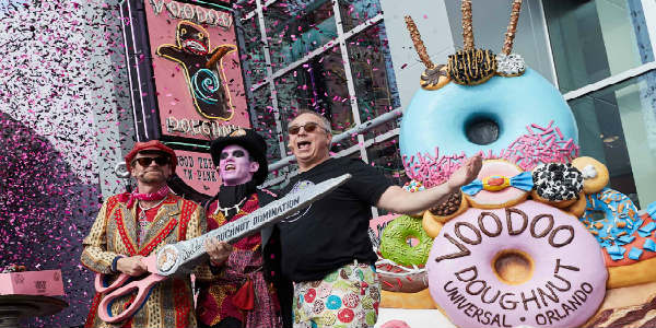 Voodoo Doughnut grand opening at Universal Orlando CityWalk May 2018