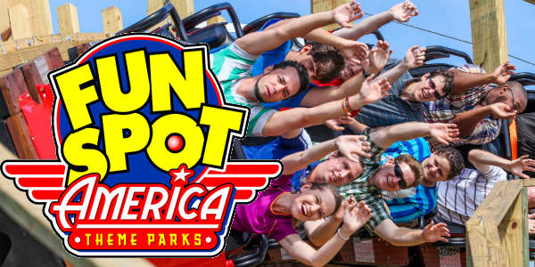 Fun Spot America logo and coaster