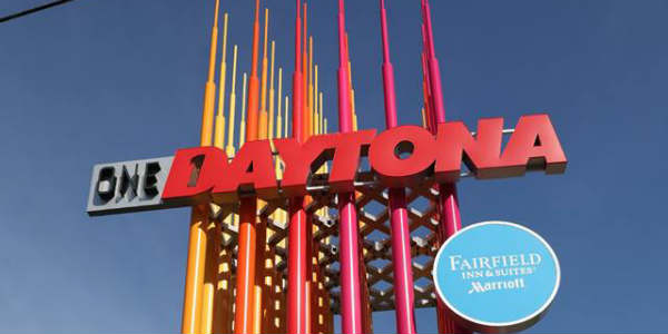 One Daytona sign in Daytona Beach, FL