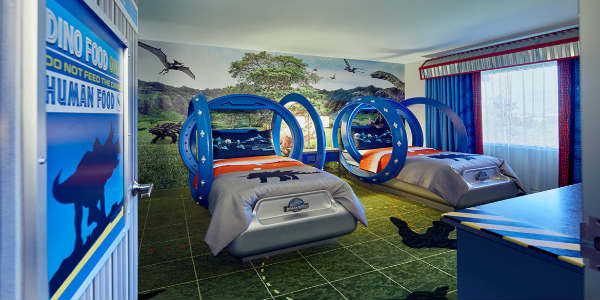 Loews Royal Pacific Resort at Universal Orlando invites families to take a prehistoric adventure 65 million years in the making by booking a stay in its new Jurassic World kids' suites.