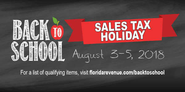 the Florida Back-to-School Sales Tax Holiday
