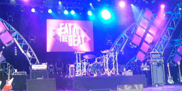 Epcot Food & Wine - Eat to the Beat concert stage