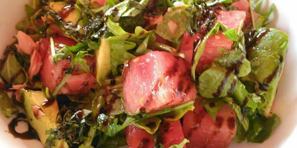 Marlow's Tavern - Watermelon Feta Arugula salad