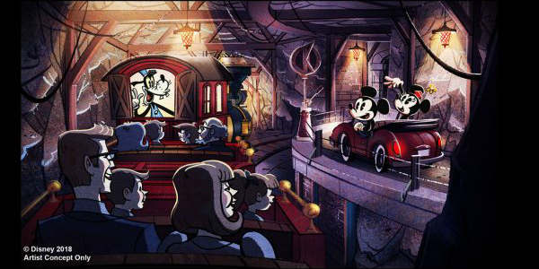MIckey & Minnie's Runaway Railway attraction