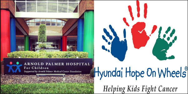 Hyundai Hope On Wheels® celebrates its 20th year in the fight funding pediatric cancer research by presenting Orlando Health Arnold Palmer Hospital for Children with a $100,000 Hyundai Impact Award.