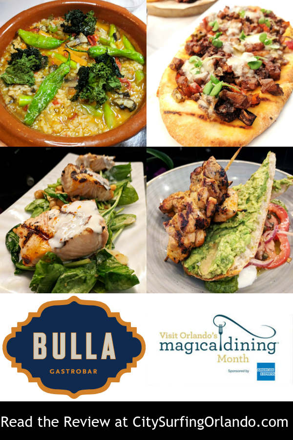 Read the CitySurfing Orlando review of the 2018 Visit Orlando Magical Dining menu at Bulla Gastrobar in Winter Park by Anna-Marie Walsh.