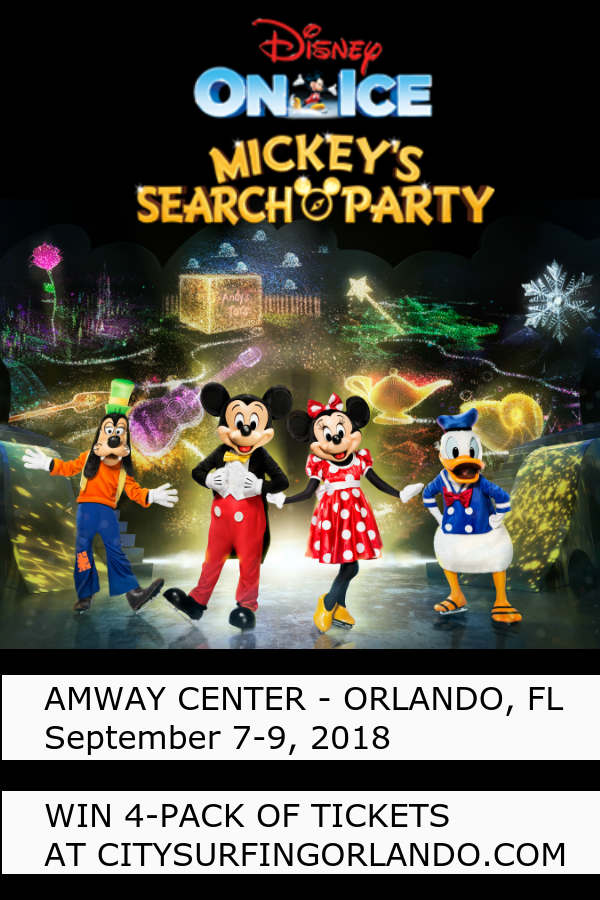 The ice skating extravaganza Disney On Ice presents Mickey's Search Party will visit Orlando from September 7-9, 2018 for six performances at Amway Center.