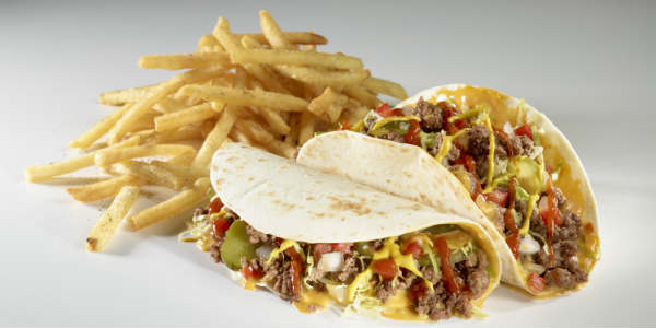 Tijuana Flats is summer-izing their menu with the addition of Cheeseburger Tacos