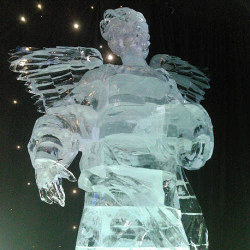 ICE! 2018 at Gaylord Palms Resort in Orlando - Nativity Angel in Ice