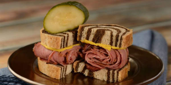 Epcot Holiday Kitchens - pastrami on rye