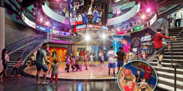 Walt Disney World is giving guests who are basketball fans a glimpse inside the new NBA Experience coming to Disney Springs in summer 2019.