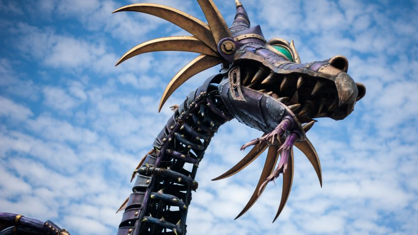 After almost a year's absence, the Maleficent dragon float returned to the Festival of Fantasy parade at Disney's Magic Kingdom this past weekend, to the delight of her many fans.