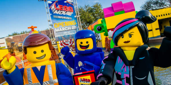 LEGOLAND® Florida Resort is taking guests from the theater to the theme park with the opening of THE LEGO® MOVIE™ WORLD on March 27, 2019.
