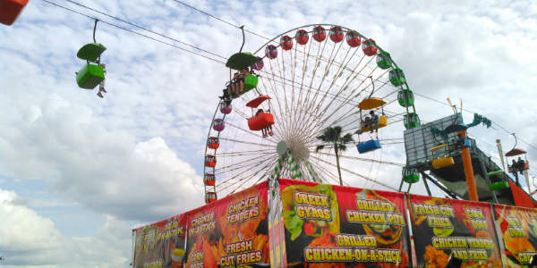 Florida State Fair rides and food