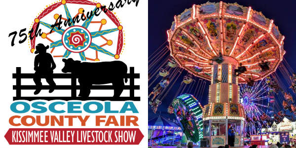 The 75th annual Osceola County Fair will open Friday, February 8th and feature livestock shows & youth exhibits, live entertainment, carnival rides and more.