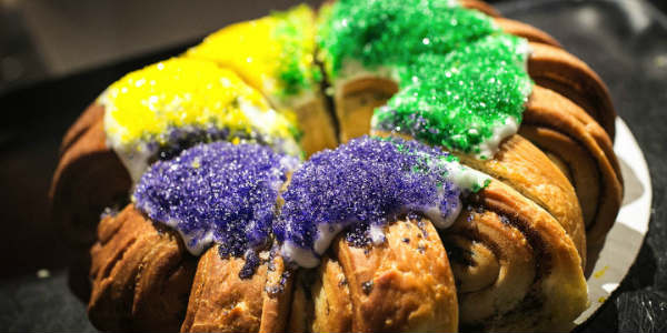 Universal Orlando Mardi Gras - Enjoy Cajun food like King Cake.