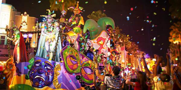 Universal Orlando Mardi Gras - parade