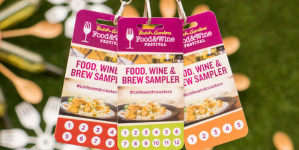 Busch Gardens Food & Wine Festival lanyards