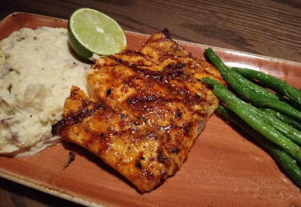 Tony Roma's Harissa-Glazed Grilled Salmon