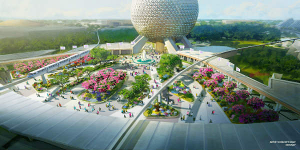 Walt Disney World released details on a reimagined main entrance for Epcot