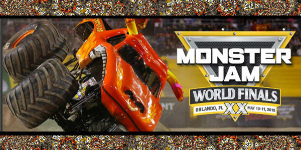 Monster Jam World Finals XX will be held at Camping World Stadium the weekend of May 10–11, 2019.