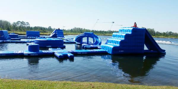 Nona Adventure Park in Lake Nona - inflatable course