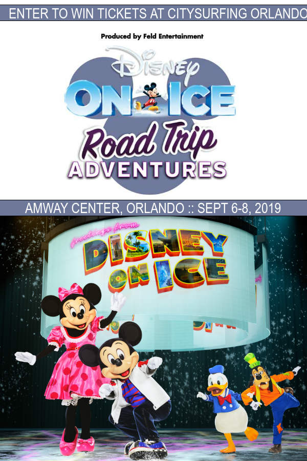 Win tickets to Disney On Ice presents Road Trip Adventures, performing at the Amway Center in Orlando September 6-8, 2019.