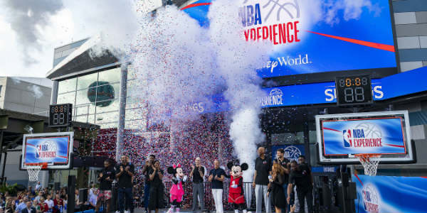 Disney Chairman and CEO Bob Iger unveiled the NBA Experience at Disney Springs