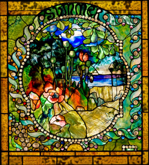 The Charles Hosmer Morse Museum of American Art in Winter Park - TIffany's Four Seasons Summer Window