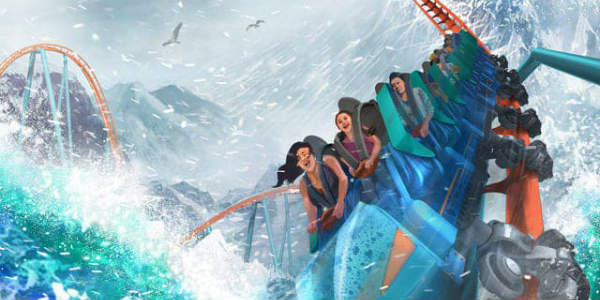SeaWorld Orlando - artist rendering of Ice Breaker