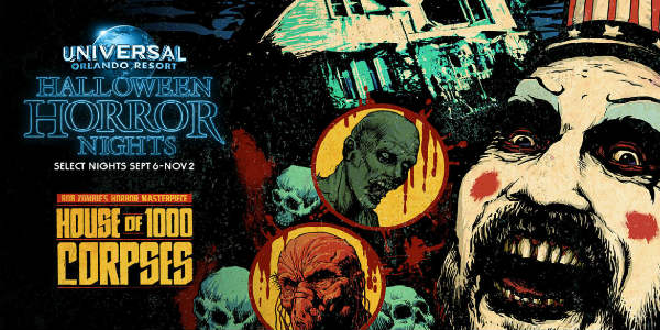Universal Orlando has announced that Rob Zombie's classic horror film, House of 1000 Corpses, will be a new maze at this year's Halloween Horror Nights.