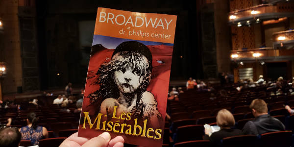 Les Miserables at Dr. Phillips Center - Playbill