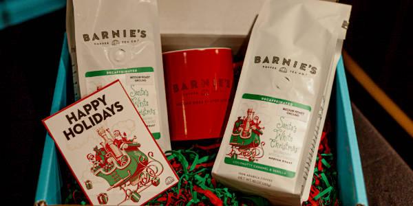 Barnie's Coffee & Tea Santa's White Christmas coffee
