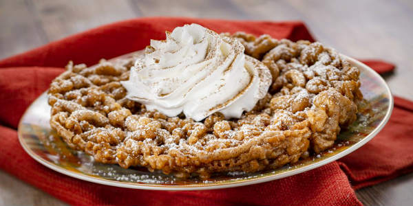 Epcot International Festival of the Holidays -Pumpkin Spice Funnel Cake