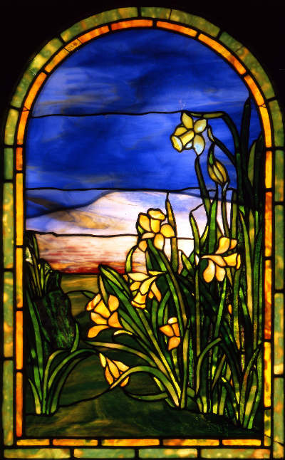 c. 1916 daffodilswindow by Tiffany Studios courtesyThe Charles Hosmer Morse Museum of American Art