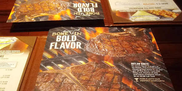 """Bone In, Bold Flavors"" Menu at LongHorn Steakhouse"